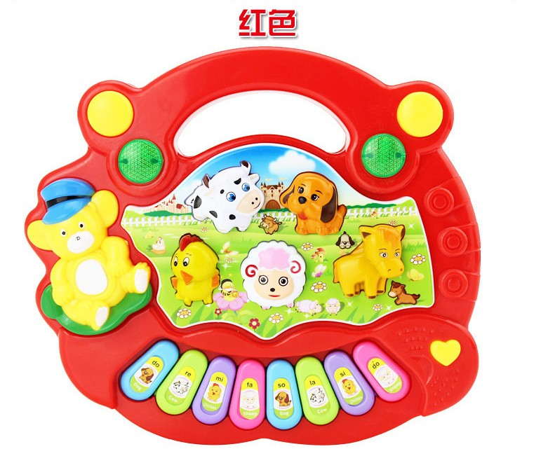 Educational toys english Farm Animal  Kids Piano keyboard Music Toy with sound Baby Playing Instruments for early age