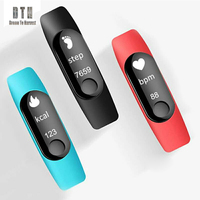 M3 Smart band IP67 Heart Rate Color OLED display Smart Bracelet Band Wristband Fitness Tracker ID115 heart rate monitor