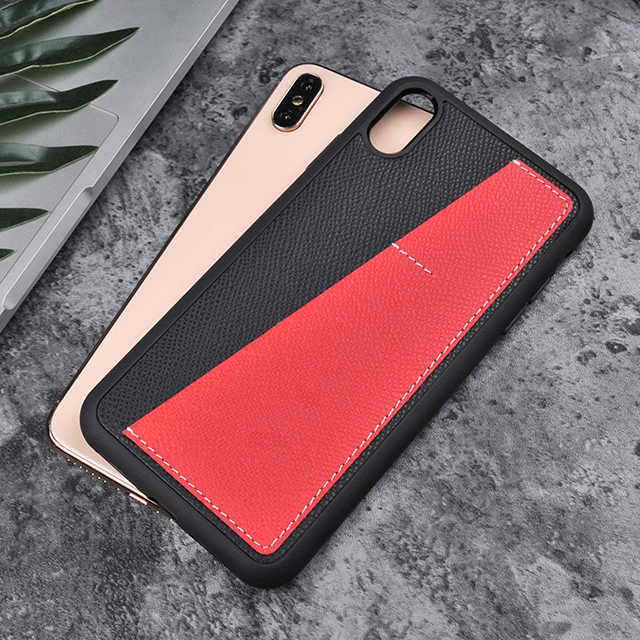 For iPhoneXS max P9 series real cowhide leather smartphone case