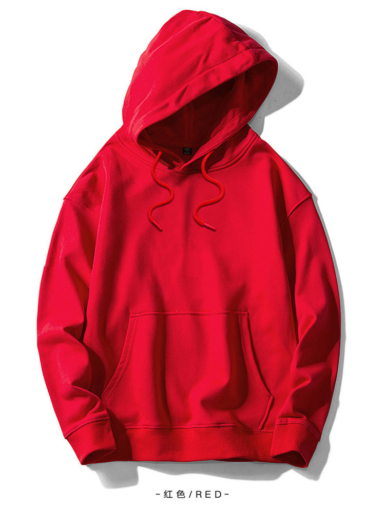 High quality 100%cotton  European size plus size soft warm fleece OEM blank custom wholesale   pullover hoodies