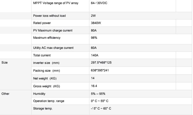HIGH QUALITY 3KW HYBRID INVERTER ON GRID OFF GRID SOLAR INVERTER SOLAR POWER SYSTEM HOME USE