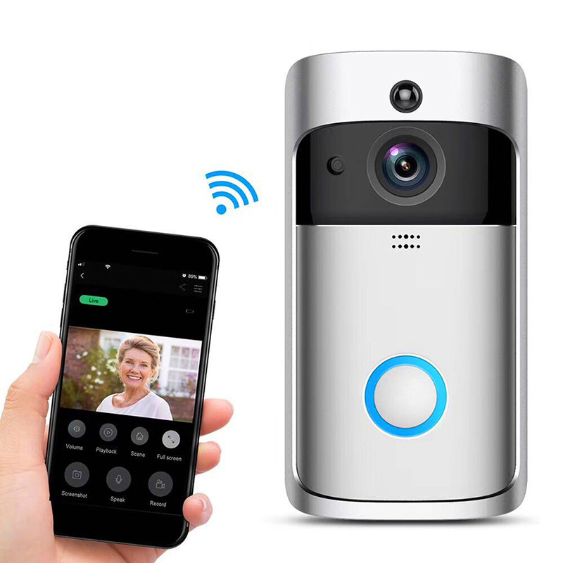 All-new Ring Video Doorbell 1080p HD video, improved motion detection, easy installation Satin Nickel and audio privacy, and crispernight vision.