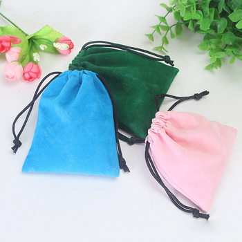 Mixed Colors Pouch Bags 10*12cm Elegant Drawstring Makeup Pouches Black Velvet Jewelry bag for Jewelry, Gifts, Event Supplies