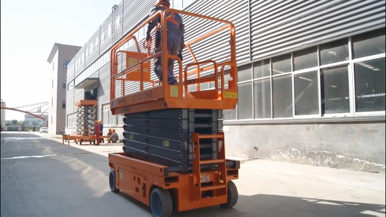 Chufeng Top quality 4-16m self-driven hydraulic electric hydraulic scissor lift platform for aerial working
