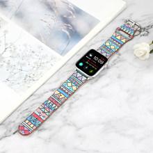 Ремешок-петля для Apple Watch 5 4 3 2 1 полоса 38 мм 42 мм кожаный ремешок для iwatch Series 5 4 3 2 44 мм 40 мм браслет для мужчин и женщин(China)