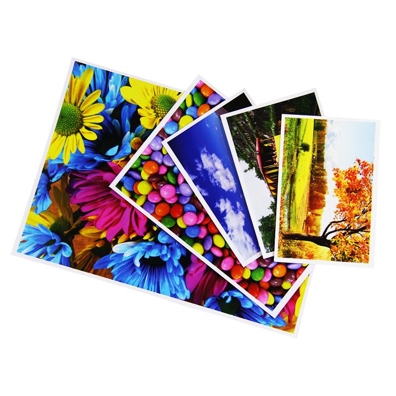 अनुकूलित A4 A5 रंगीन अच्छी गुणवत्ता के निविड़ अंधकार 180g उच्च प्रकाश चमकदार Inkjet मुद्रण फोटो कागज