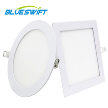 BLUESWIFT 3W 5W 12W 울트라 얇은 라운드 3000K Recessed <span class=keywords><strong>Led</strong></span> <span class=keywords><strong>패널</strong></span> 빛