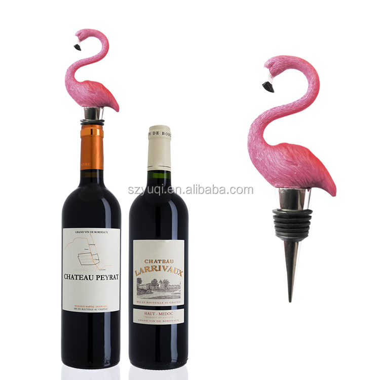 New product ideas 2020 high quality novelty custom flamingo wine stopper