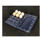 Disposable Egg Trays Wholesale Transparent Rectangular Chicken Disposable Plastic Egg Trays