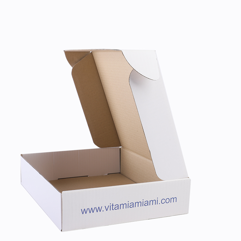 Strong cardboard shipping carton mailing corrugated box with sample