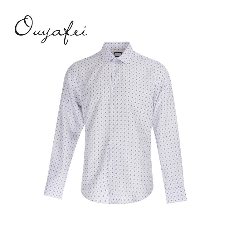 Good price casual style breathable printed cotton shirts mens