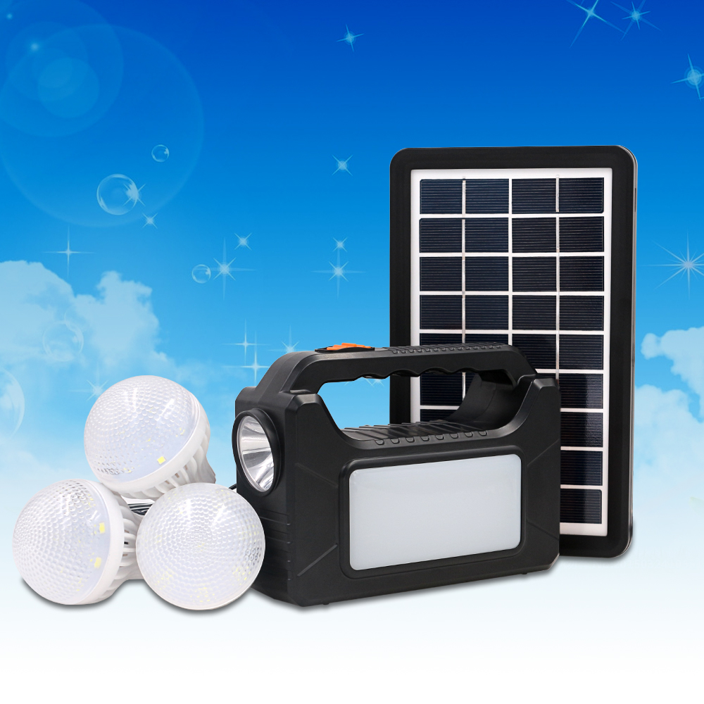 The Most Popular High Quality And Lowest Price 3W Solar <strong>Energy</strong> Product 3 Bulbs Solar System Power For No Electricity