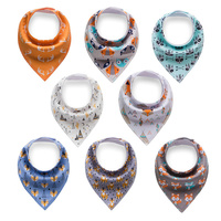 100% Cotton Bandana Drool Bibs 8 Pack Baby Bibs for Boys And Girls