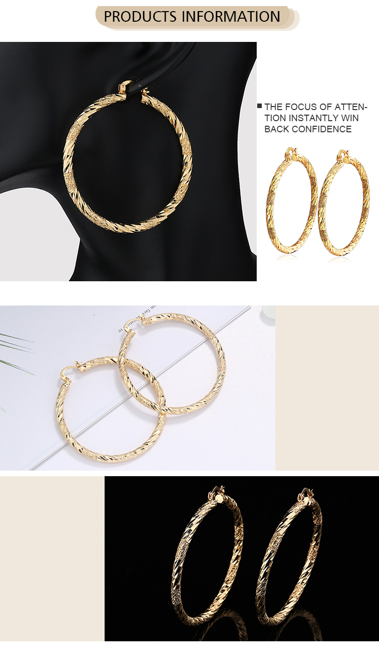 Factory Price Trendy 2019 Exaggerated Big Twist Shape Earrings For Women Lady