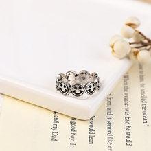 Винтажные кольца в форме смайлика в форме сердца для женщин, модные кольца с бантом и звездами, ювелирные изделия для женщин, обручальное ко...(Китай)