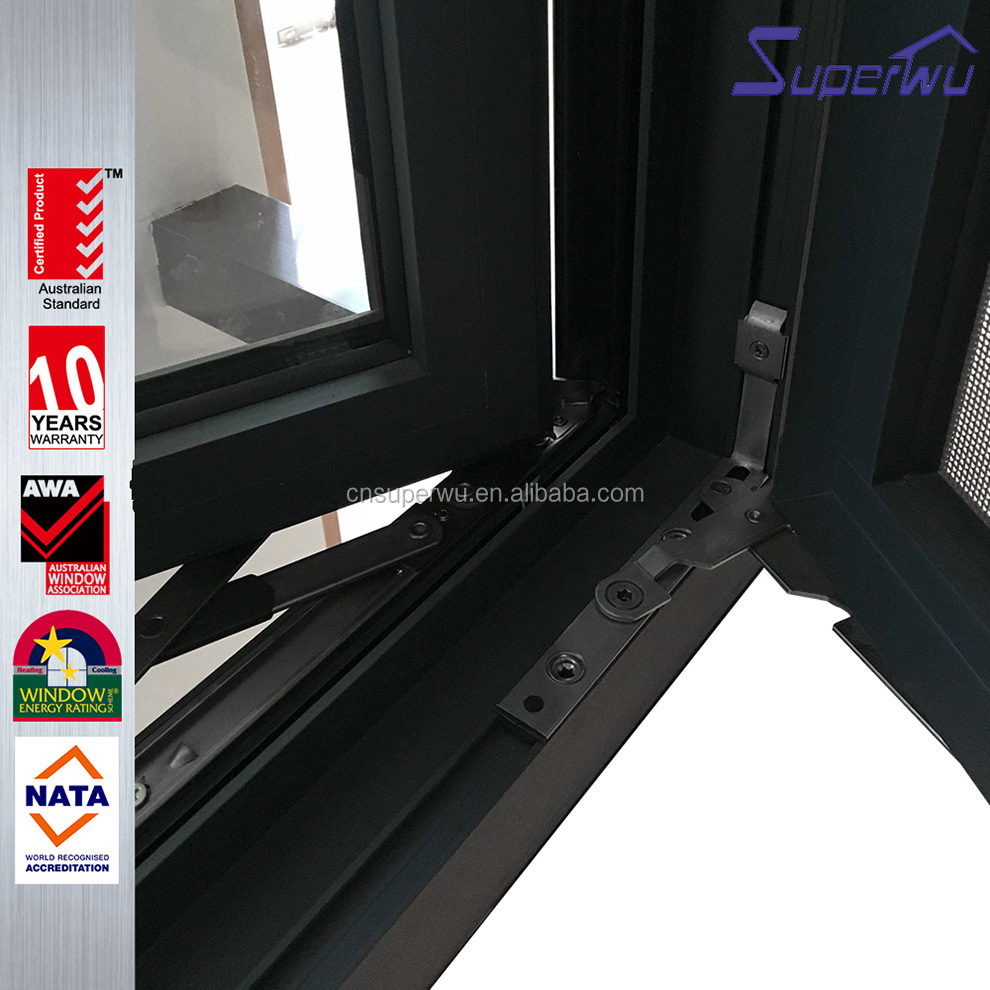 Customized Size Double Glazed Aluminum Casement Windows Factory Prices more than 10 years warranty