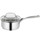 Fashion Design Milk Warmer Cooking Pot Stainless Steel Saucepan Kitchen with Glass Lid