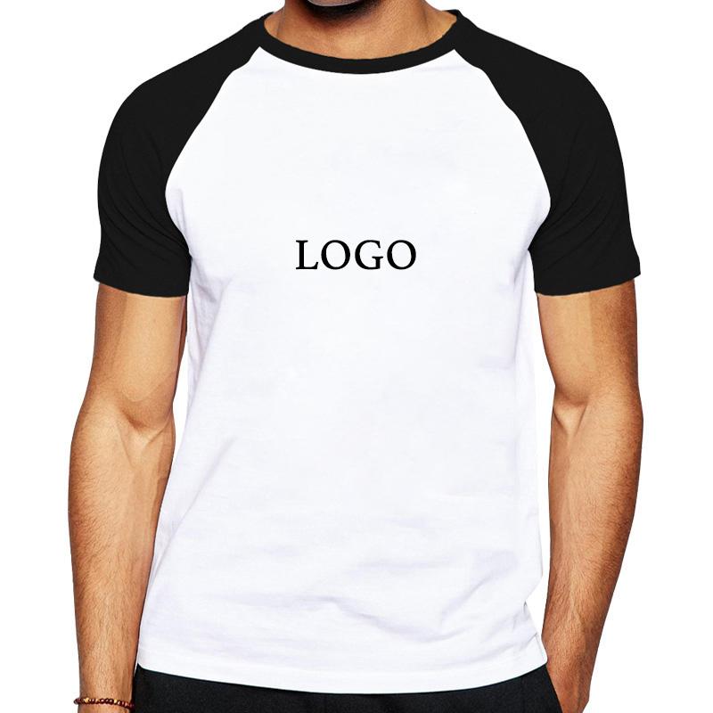 180gsm 100% कपास रागलाण लघु आस्तीन पुरुषों की खाली टी शर्ट कस्टम लोगो प्रिंट पुरुषों की टी शर्ट