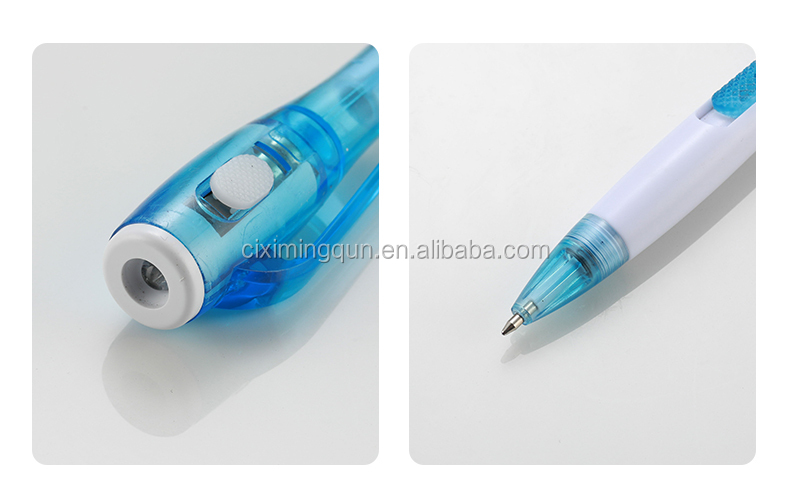 Cixi Factory MQ-800B1 0.7mm Invisible Ball Pen with UV Light