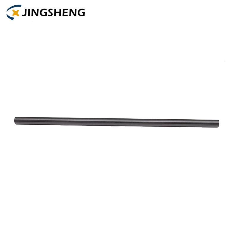 Wholesale 25ft 2mm black matt glossy telescopic woven <strong>carbon</strong> fiber tube pipe
