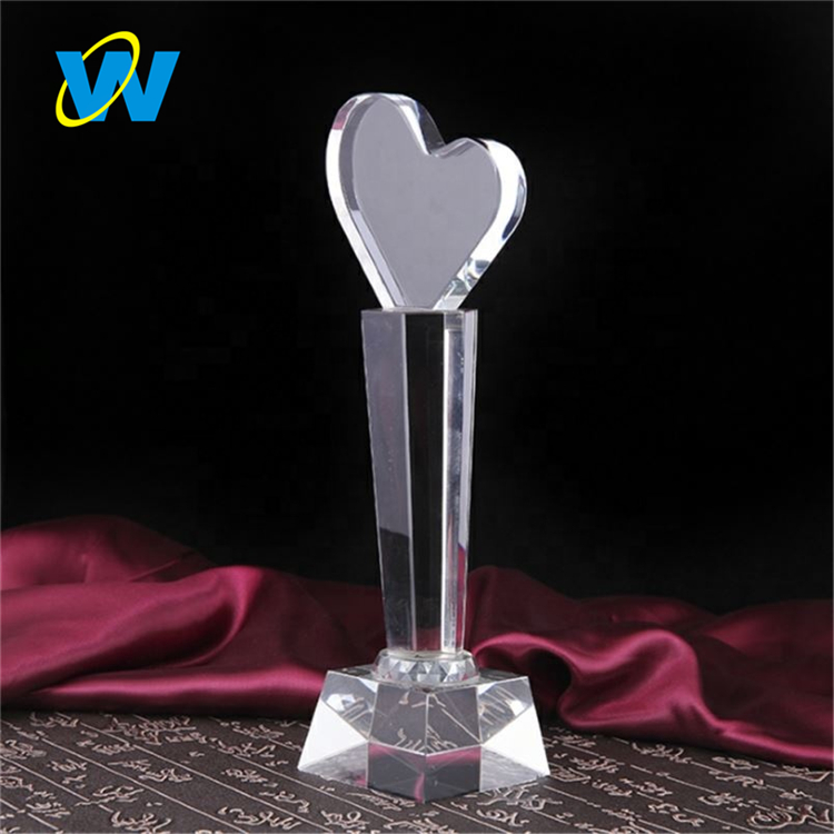 Custom High Quality Metal Thumb Crystal Trophy For Champion
