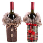 Christmas Wine Bottle Cover Bags Santa Wine Bottle Cover Gift Bag Christmas Dinner Party Xmas Table Decor Merry Christmas