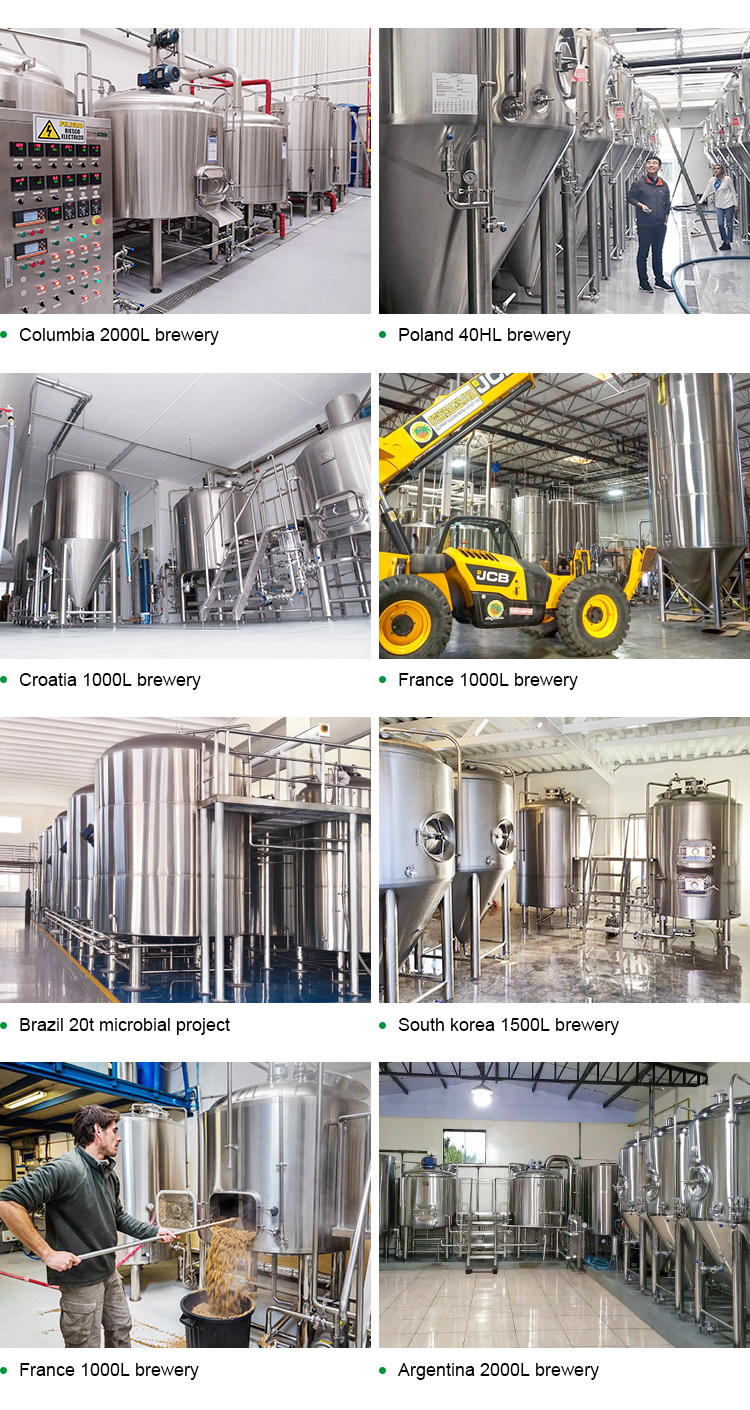Craft beer brewing equipment commercial large brewery 1000L 2000L 3000L 5000L 10000L 12000L per batch