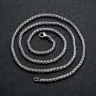 Gift Chain Jewelry Necklaces Men Fashion Men'S Single Stainless Steel Chain 3mm High Quality Necklace Accessories Jewelry Italian Box Chain
