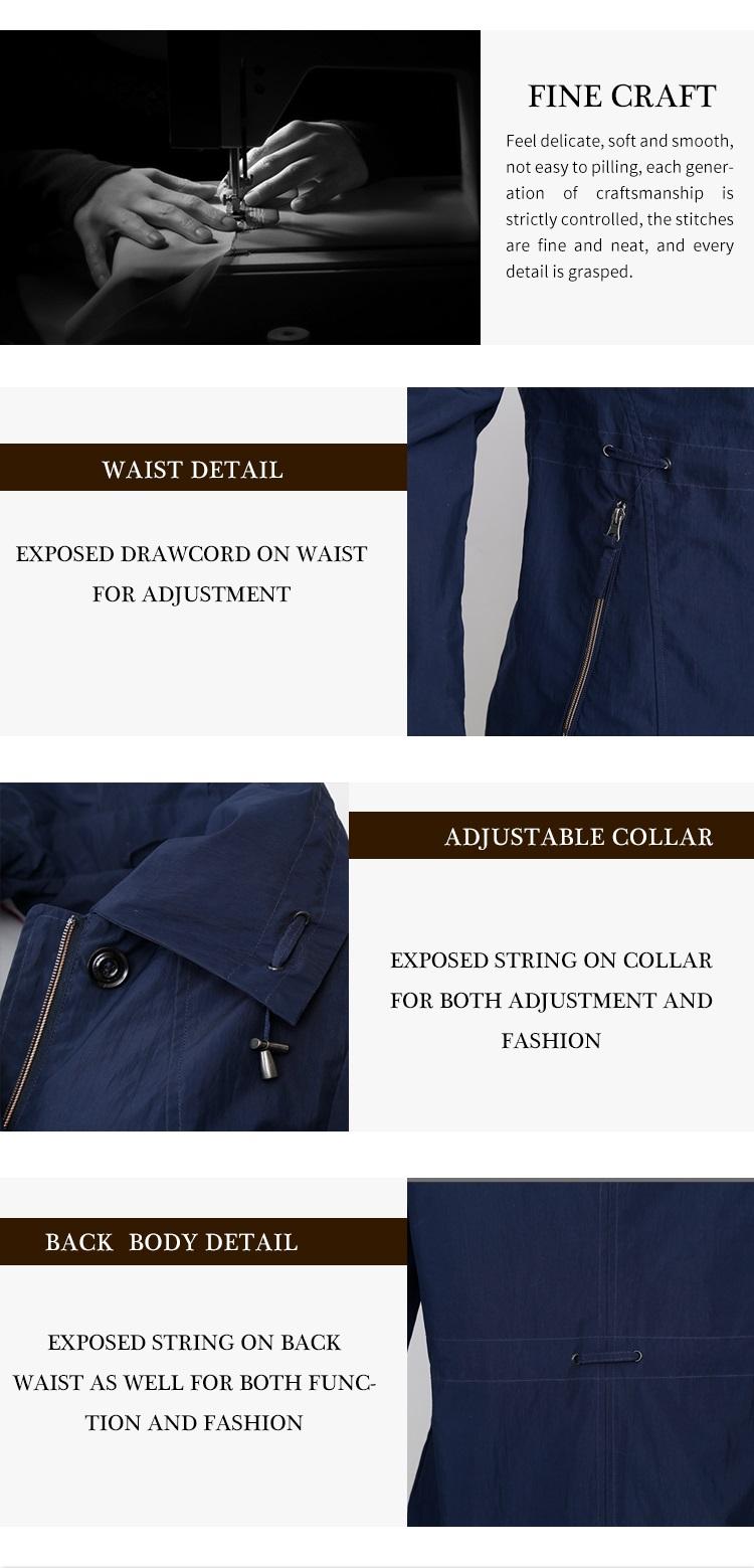 Professional manufacturer supply custom windbreaker woman jacket