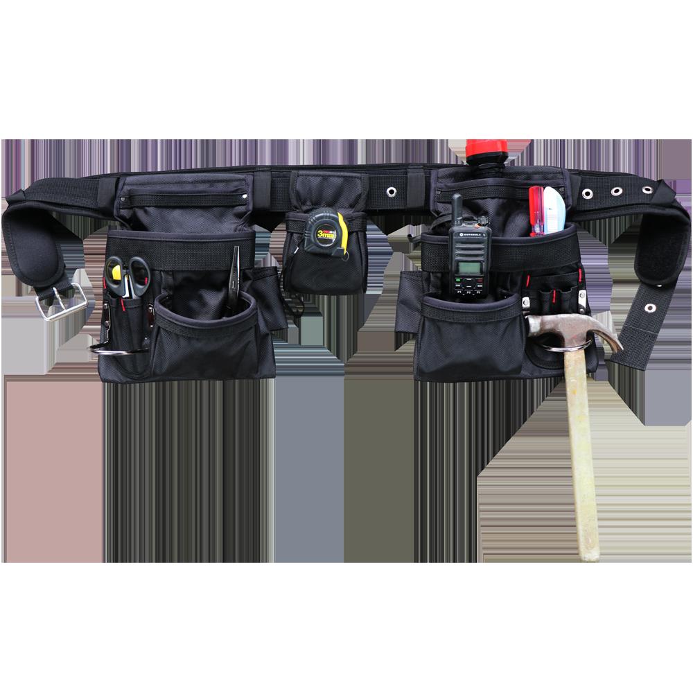 600D bolsas de herramientas plegables, cierre de boca ancha, bolso de hombro, bolso, organizador de herramientas, bolsa de almacenamiento