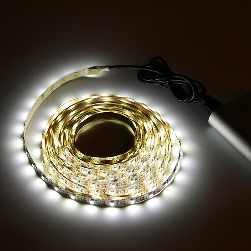 5V USB LED Strip 2 Meter Smd2835 Retail Display Portable USB Led Light Strip Warm White Kit Computer Light LED 60/M Tv Backlight
