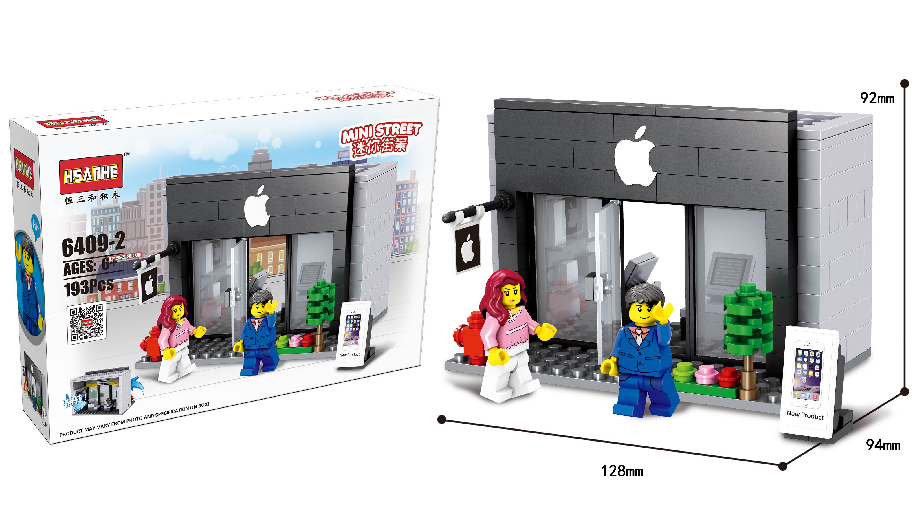 Mini Streetview bricks gift toy popular legoing stree tview kids building blocks toys Small particle street view blocks model