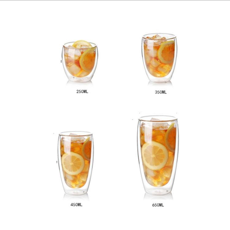 도매 붕규산 유리 커피 컵 이중 벽 유리 컵 맥주 유리 주스 컵