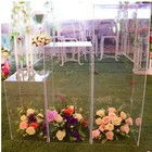 Decoration Assembly Type Wedding Acrylic Frame Geometric Flower Stand Centerpiece Road Lead Decoration On Stock