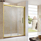 Tempered Panel Shower Door Showers Made In China DIY Frosted Tempered Glass 3 Panel Sliding Shower Door