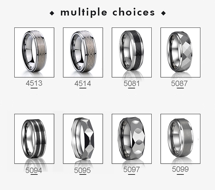 2020 hot sell  china tungsten carbide ring 8mm for men cloth tanzanite wedding band enhancer flexible opal