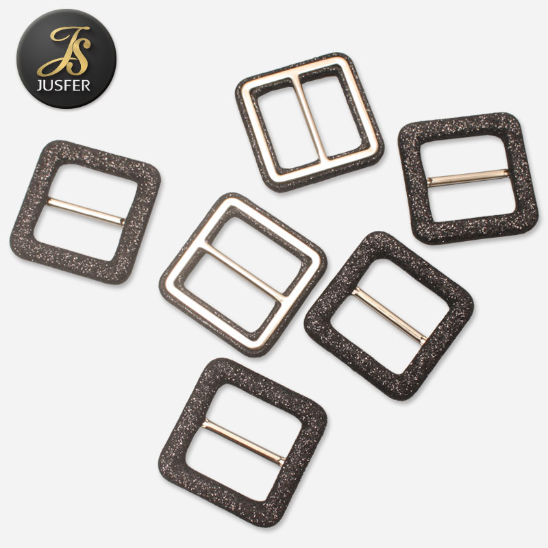 1 inch fabric square self cover metal buckle for clothing belt and shoes