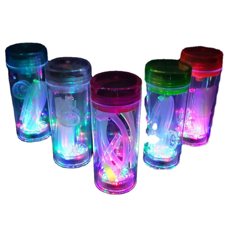 תוספות עיצוב כיס קטן מיני גודל חמוד נרגילה כוס יכול נייד נסיעות בכל מקום קל מכירה לוהטת שישה עם אור