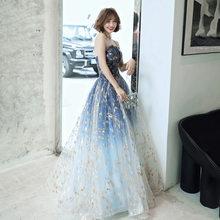 Женское вечернее платье со спущенным плечом, длинное вечернее платье-трапеция, Размер 3XL(Китай)