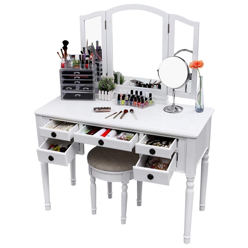 Miroir Coiffeuse Table De Maquillage Dressing