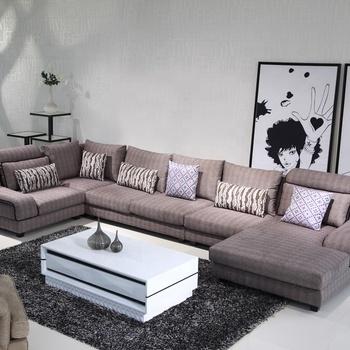 U Shape Fabric Corner Sofa