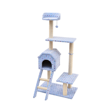 New design pink/ blue tower fun condo luxury pet house cat tree
