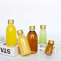Screen printing glass material clear juice soda fermented beverage drink glass bottle 60ml 30ml