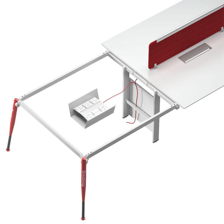 नई आगमन मूल डिजाइन घनीय कार्य केंद्र के साथ कार्यालय फर्नीचर कार्यालय कार्य केंद्र टेबल अनन्य पेटेंट कार्यालय डेस्क