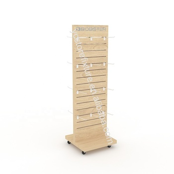 Double-sided Wooden Accessories Display Rack Floor Display Unit for accessories shops