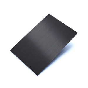 304 Titanium Black Colored Hairline Finish Stainless Steel Sheet