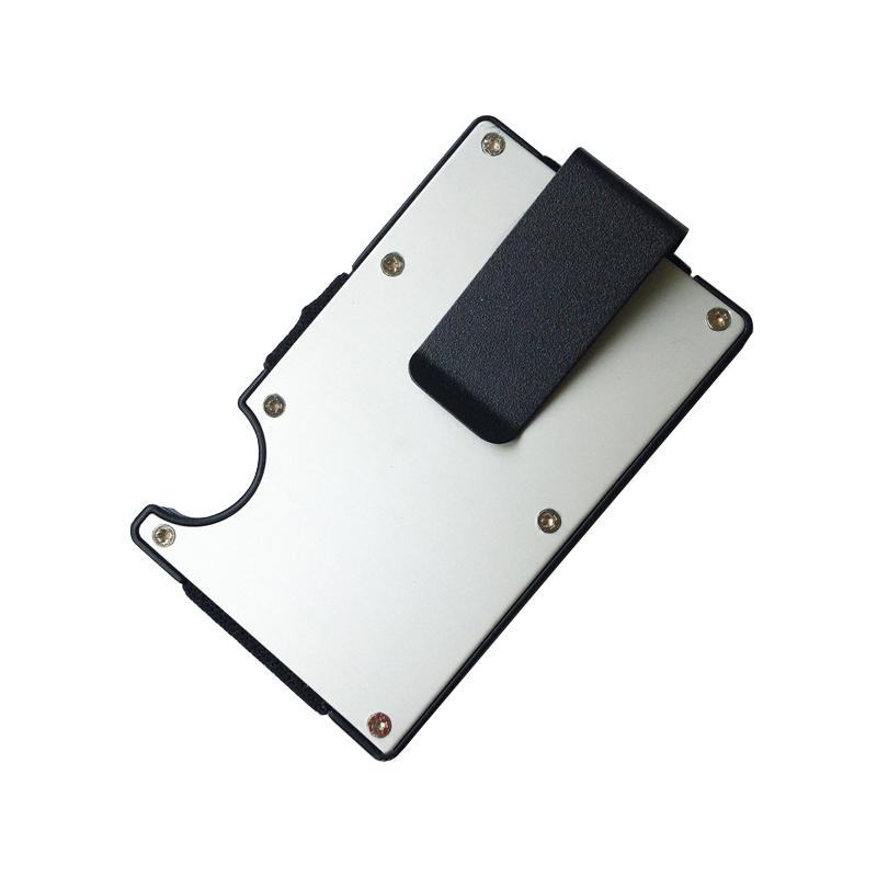 MRF-06 High capacity Custom RFID blocking ABS aluminum material credit card holder slim wallet money clip
