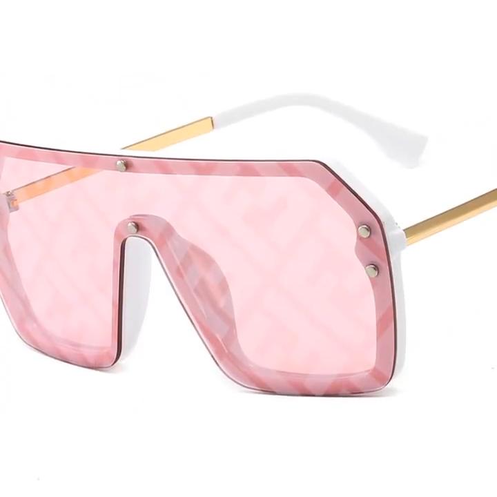 2020 새로운 도착 플라스틱 UV 400 F 로고 큰 선글라스 거울 평면 탑 FF 선글라스