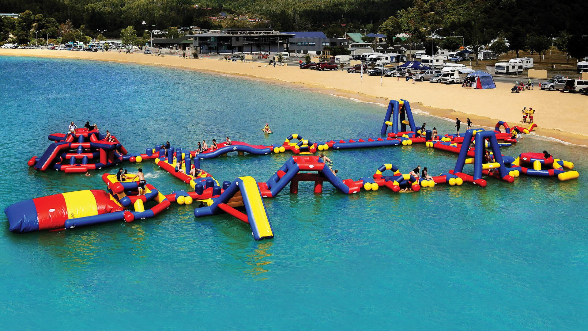 Factory Directly Large Inflatable Floating Water Park, Commerical Inflatable Aqua Water Park For Summer Events