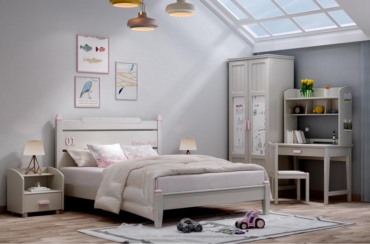 mdf teen kids bedroom furniture set children bedroom set